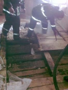 Пожар в частном доме в деревне Торбеево