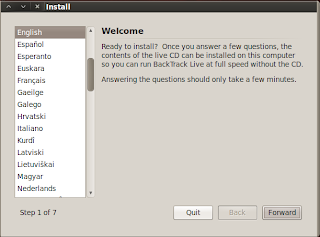 Install Backtrack 5