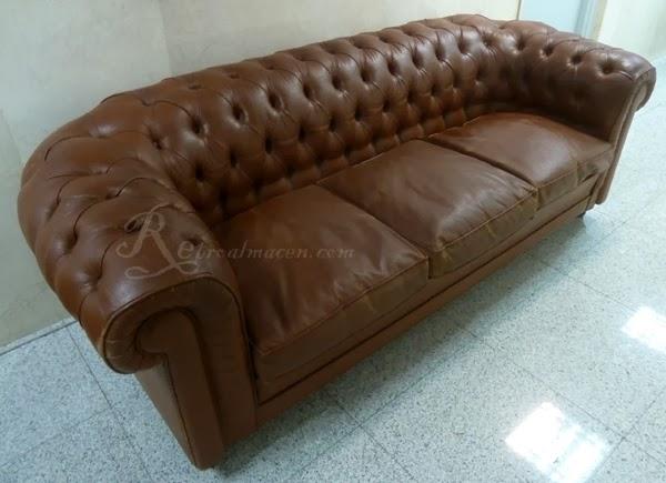 Retroalmacen tienda online de antig edades vintage y decoraci n impresionante sof antiguo - Sofas chester piel ...