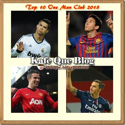 TOP 10 ONE MAN CLUB 2013 PENJARING TERBANYAK PERINGKAT KELAB