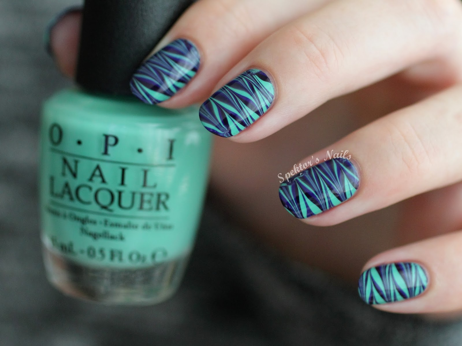 Water Marble Nails feat. OPI Nordic Collection