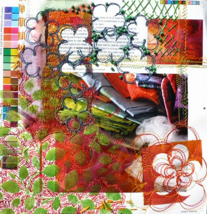 Textile art work by Alysn Midgelow-Marsden
