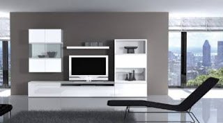 Fotografias de muebles de salon modernos for Salones modernos lacados blanco