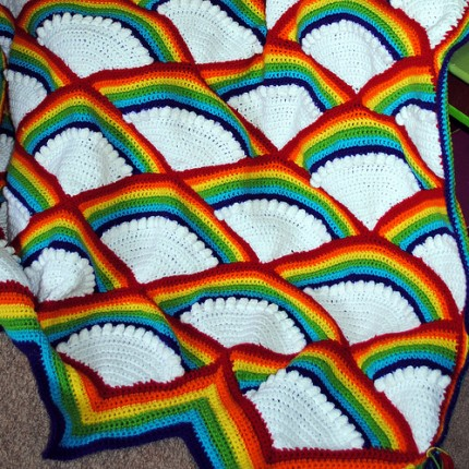 Crocheted Fan Afghan - Free Pattern