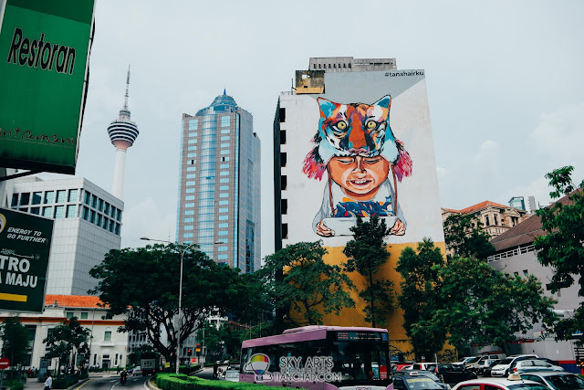 Another beautiful #TanahAirKu Street Art at Jalan Raja Chulan By MediumTouch