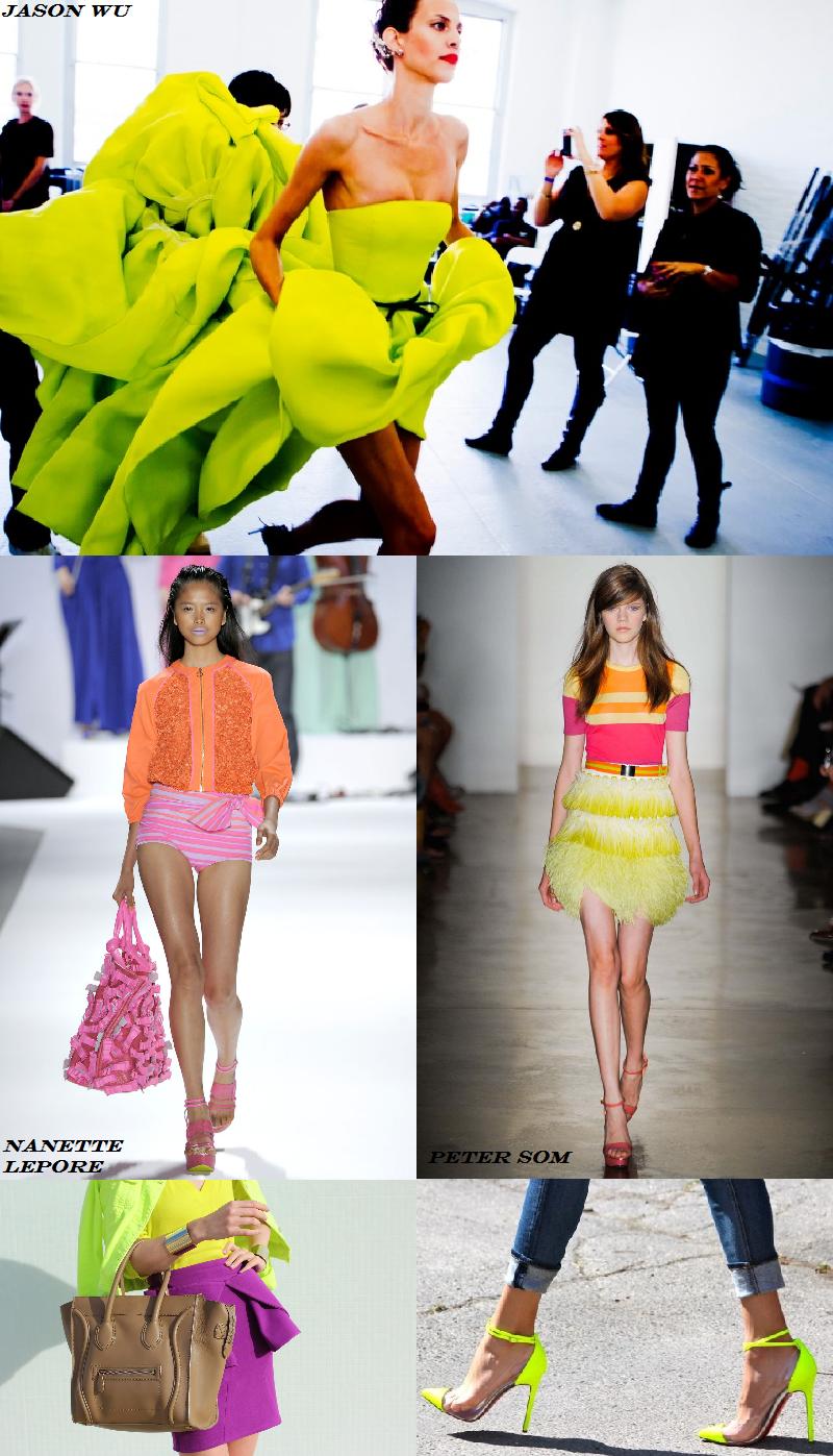 Neon trend, runway, Spring Summer 2012, Jason Wu, Peter Som, Nanette Lepore, street style