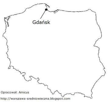 Położenie Gdańska na mapie Polski