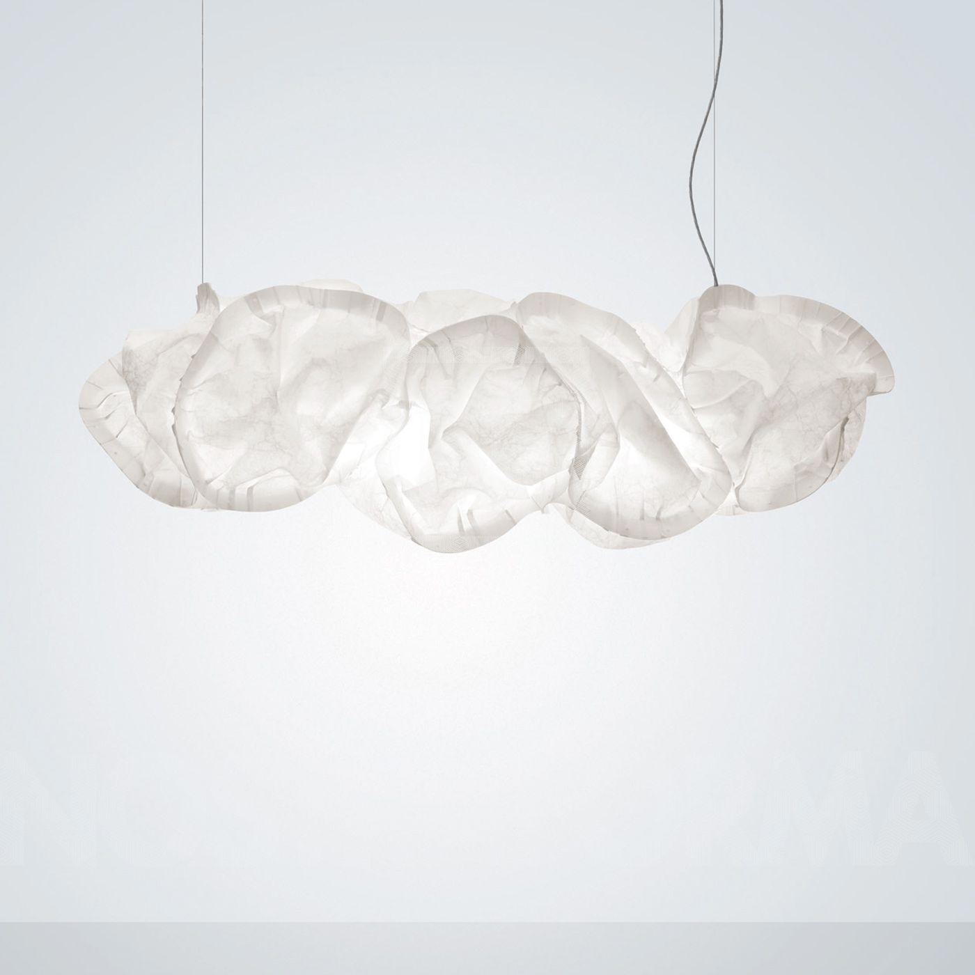Huge Cloud Like Formation Light Fixtures In Fiber Paper