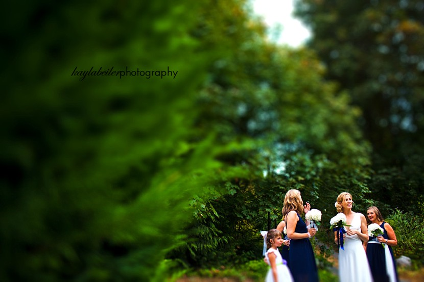 tiltshift wedding photo
