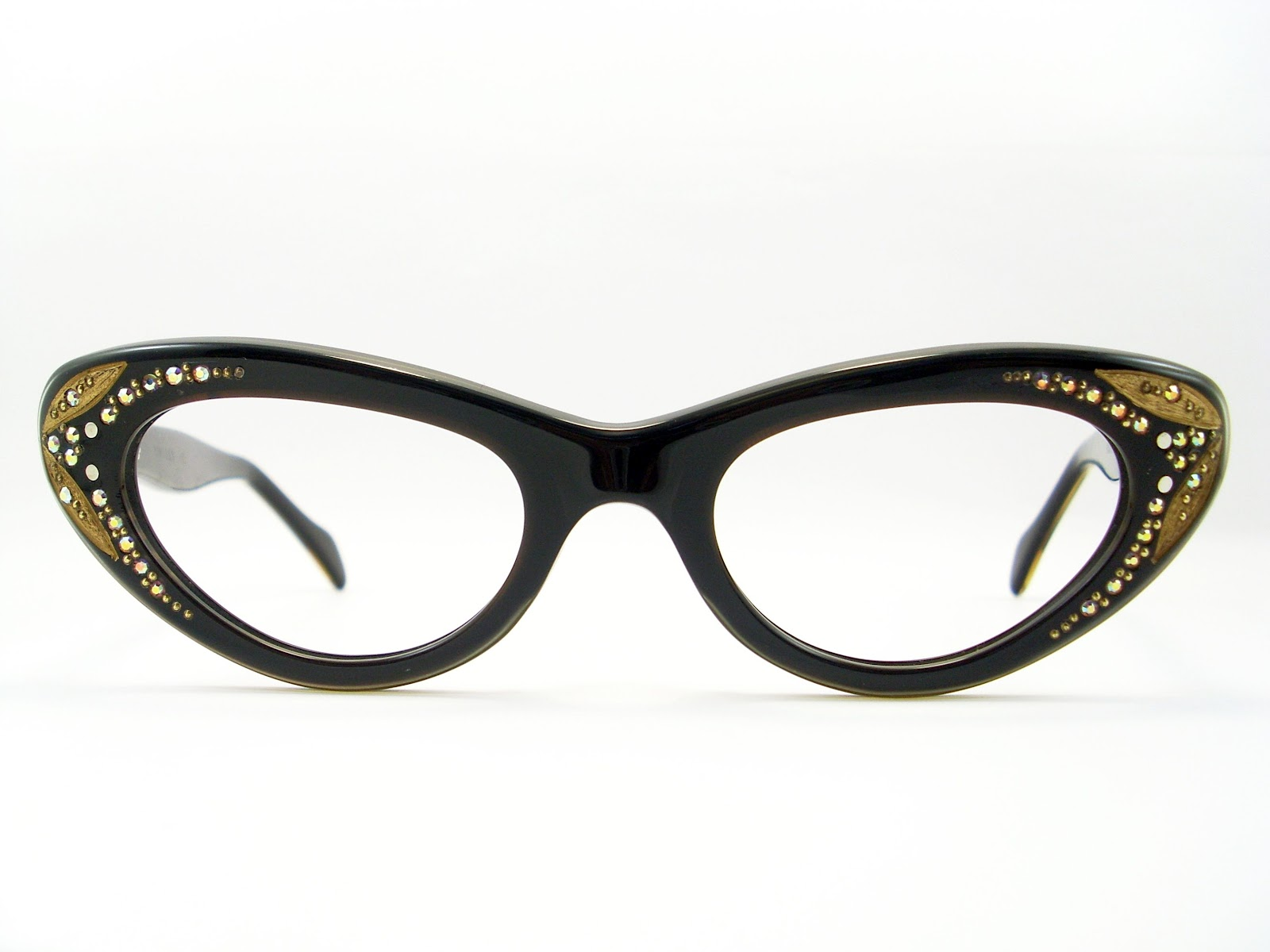Glasses Frame Cat Eye : Vintage Eyeglasses Frames Eyewear Sunglasses 50S: Vintage ...