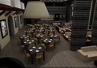 3d interior restaurant