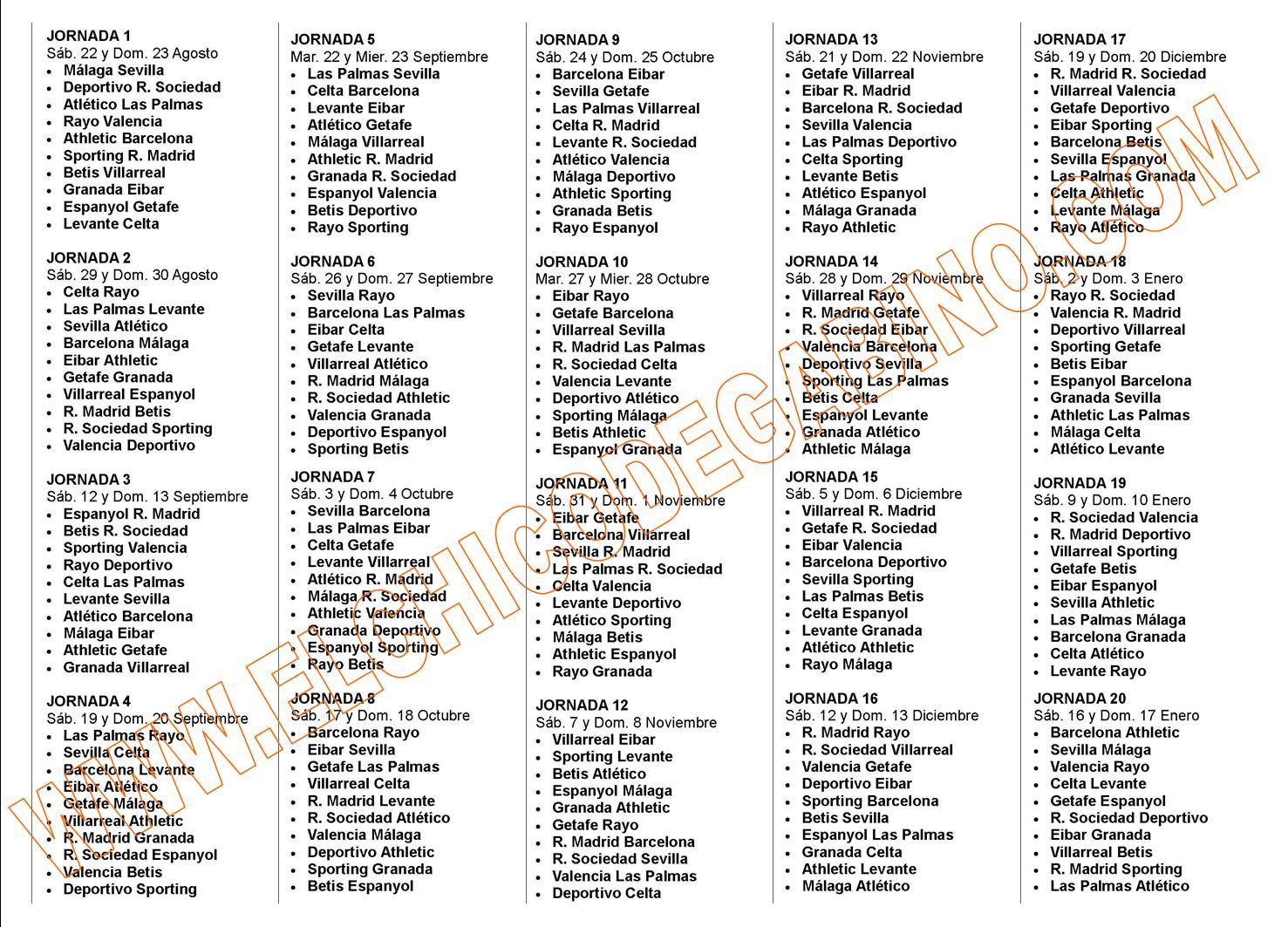 ... 369kB, Calendario Liga Adelante 2015 2016 | Calendar Template 2016
