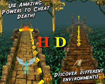 temple run game for iphone 5 retina display
