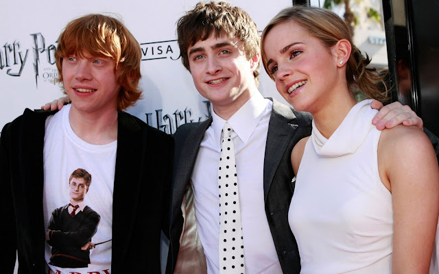 Harry Potter with Ron and Hermoine