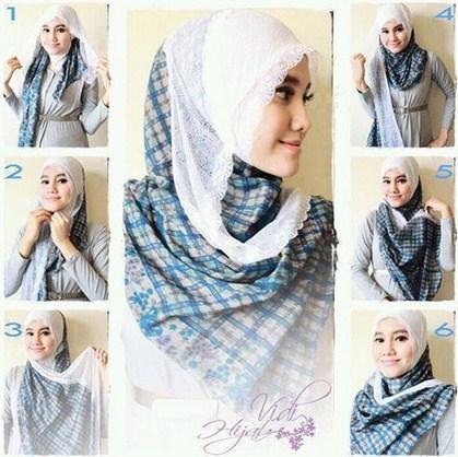 Tutorial Hijab Modern Untuk Wajah Lonjong