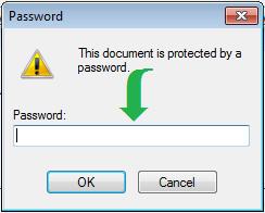 Password Protected PDF Password