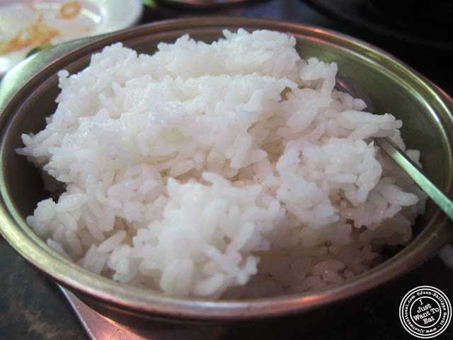 image of white rice at Bann Korean restaurant in NYC, New York