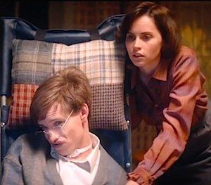 "Eddie Redmayne as Stephen Hawking in  ""The Theory of Everything"""