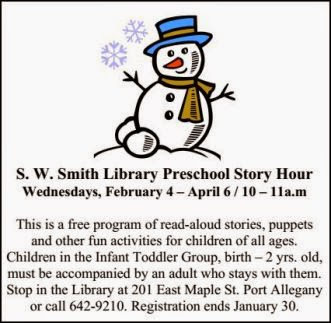 Register by January 30th  For Story Hour
