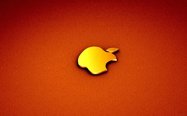 Black and White Wallpapers  Golden Apple Logo Wallpaper