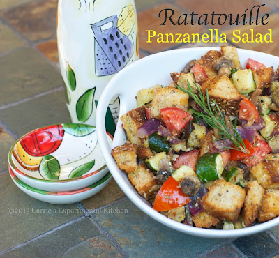 made my first panzanella salad with roasted fennel heirloom tomatoes ...