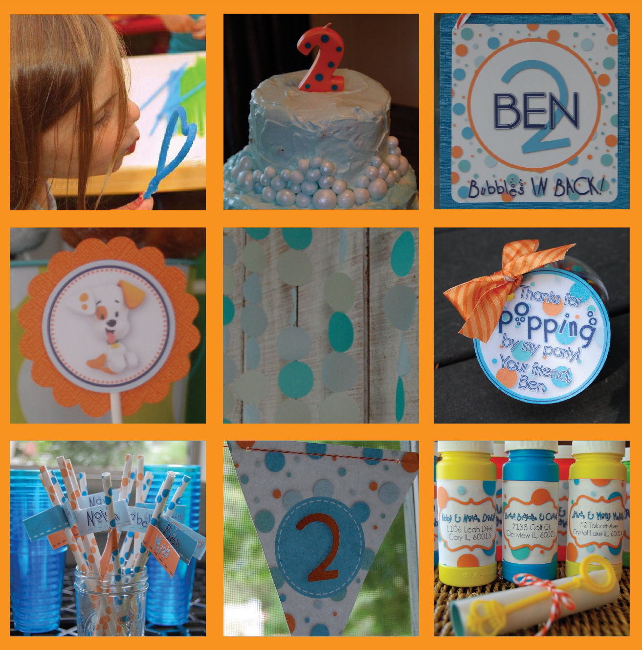 Beth kruse custom creations bubble party - Bubble guppie birthday ideas ...