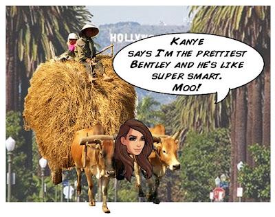 Kim Kardashian cartoon hot Bentley bumper stickers Kardashian Kars Komics