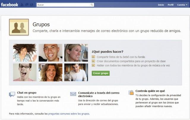 Grupos de Facebook, Redes Sociales