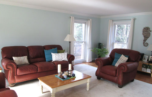 Behr aqua breeze in living room