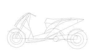 Menggambar motor matic