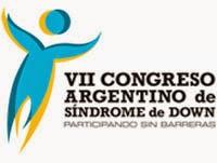"""Logo del VII Congreso Argentino de Síndrome de Down """"Participando sin Barreras"""""""