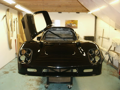 Ultima GTR Race Car Black Body Headlights