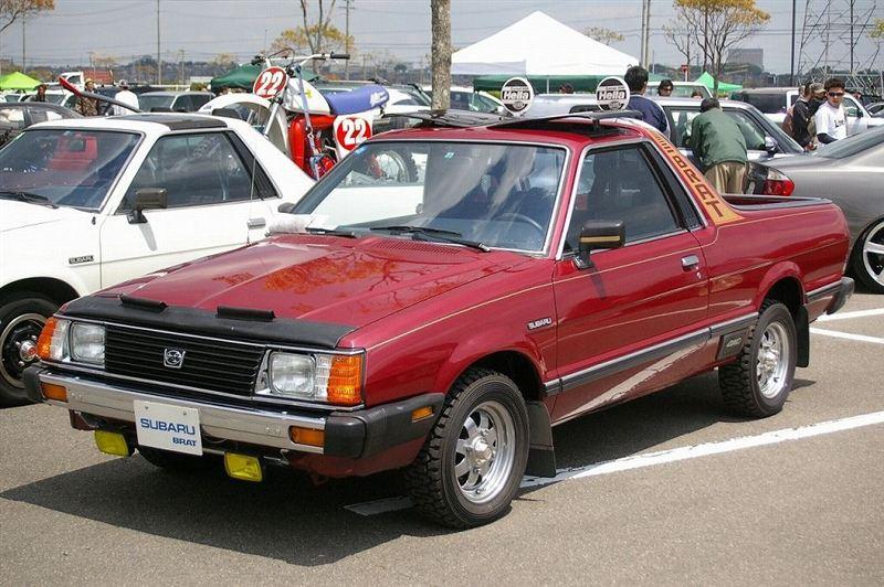 Subaru Brat, pick up, stary japoński samochód, nostalgic, retro, oldschool, スバル, クラシックカー