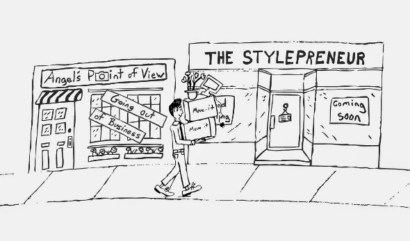 Angel's Point of View, the stylepreneur, blog moving, angel d verde