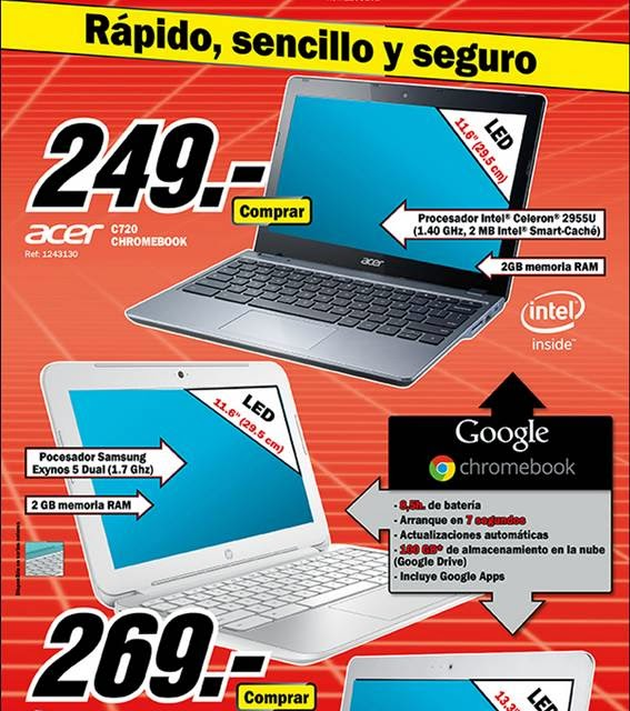 Ofertas de Chromebook del 13-10-14