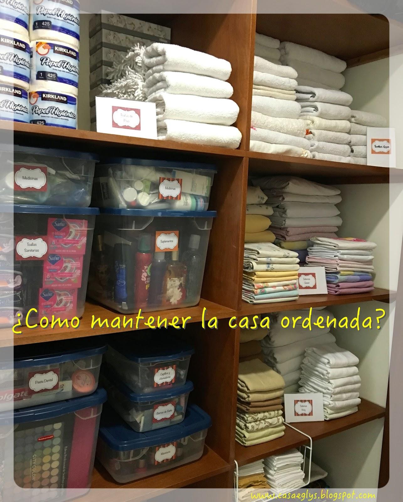 Casa eglys organizaci n como mantener la casa ordenada - Como limpiar una casa ...
