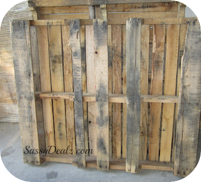 diy wood pallet project