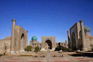 The Registan, one of the most recognizable of Samarkand's monuments.