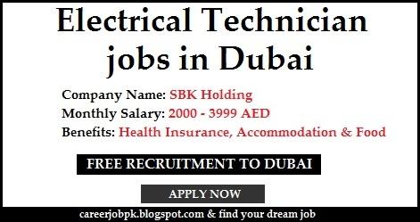 Electricial Technician jobs in Dubai