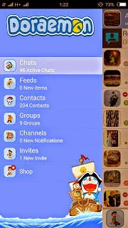 Download BBM Mod Themes Doraemon Version 2.8.0.21 apk