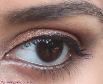 Bronze smoky eye makeup with Sephora Blockbuster