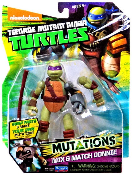 JUGUETES - LAS TORTUGAS NINJA : Mutations  Mix & Match Donnie | Donatello | Figura - Muñeco Teenage Mutant Ninja Turtles | TMNT | Nickelodeon Producto Oficial 2015 | Playmates- Giochi Preziosi | A partir de 4 años