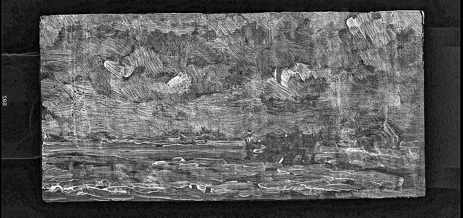Vincent van Gogh Landschaft mit pflügendem Bauer digitales Röntgenbild