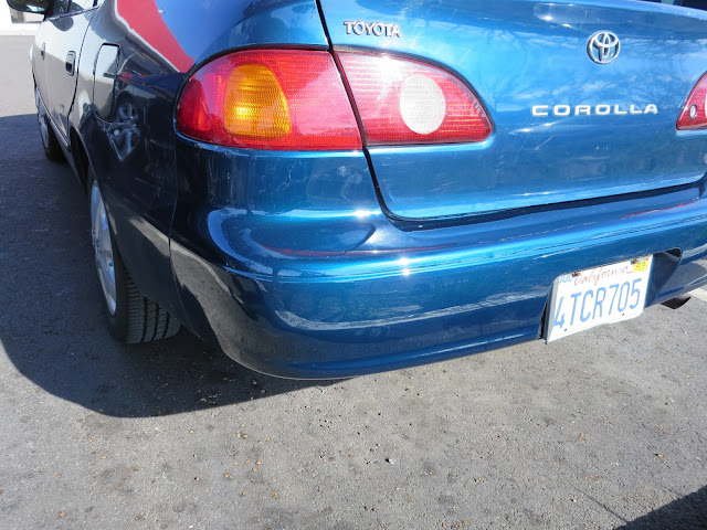 Beautiful bumper minus the dents & scrapes at Almost Everything Auto Body