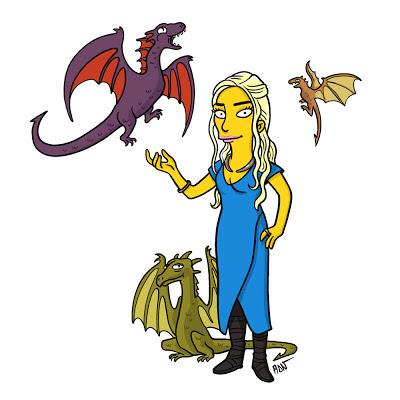 Daenerys los simpsons - Juego de tronos en los siete reinos