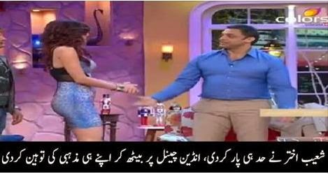 Shoaib Akhtar cross all his limits, indian channel, live tv, shoaib akhtar,