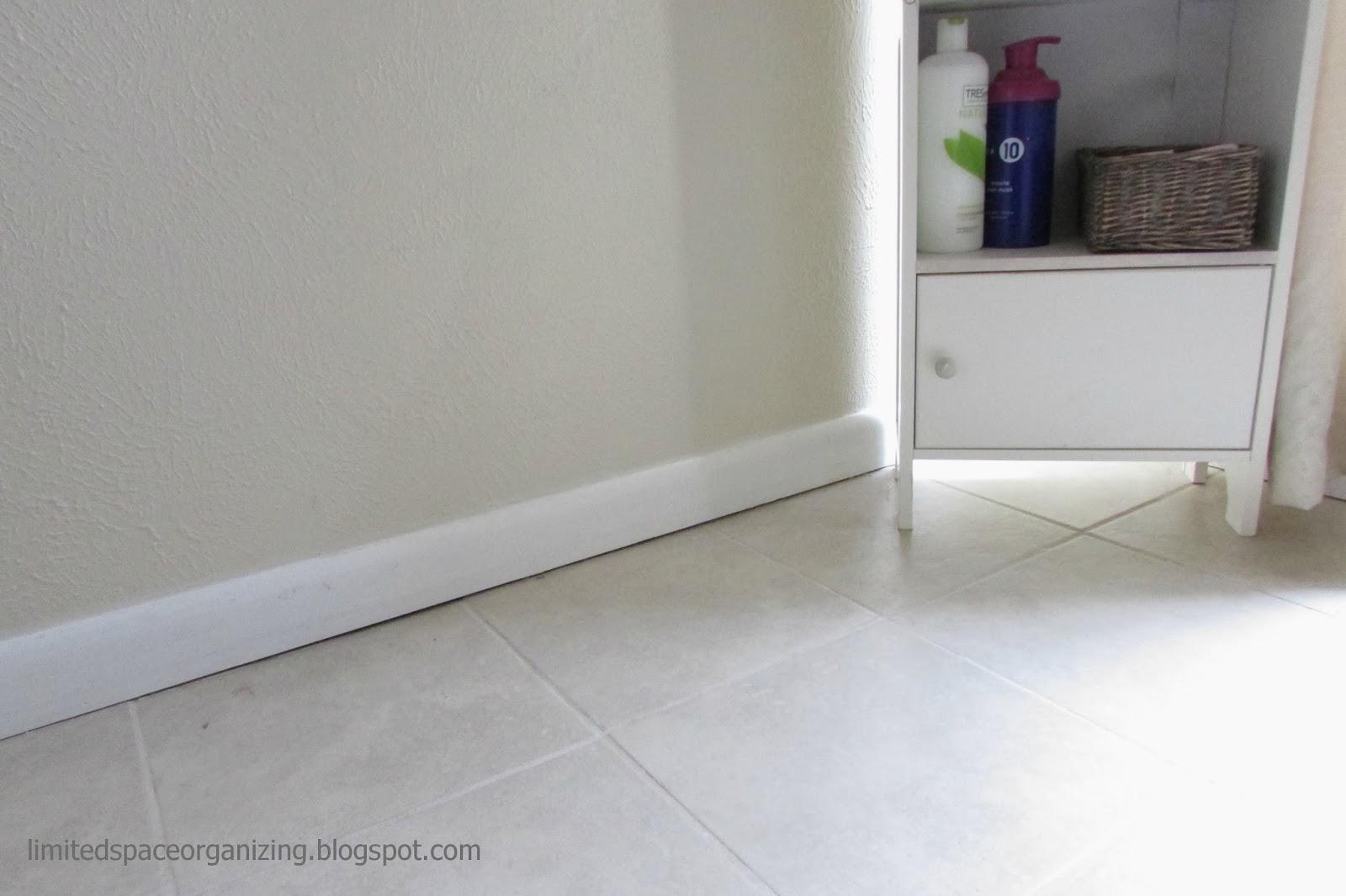 Limited Space Organizing Caulking The Bathroom