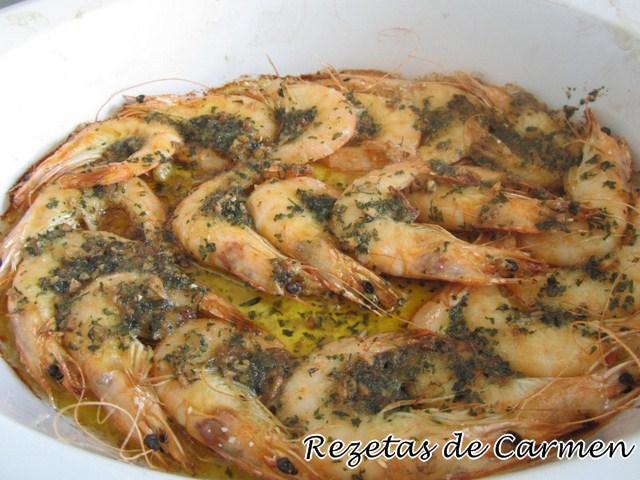 Rezetas de carmen langostinos al horno for Langostinos al horno