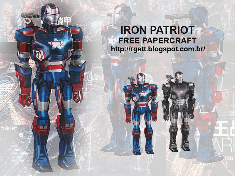 Iron Patriot Paper Model