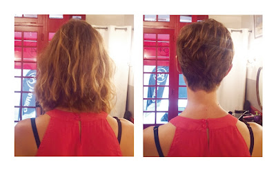 Nelly, avant et après sa visite au Studio 54, coiffure réalisée par Eddy, coiffeur - visagiste.